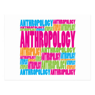 Colorful Anthropology Postcard