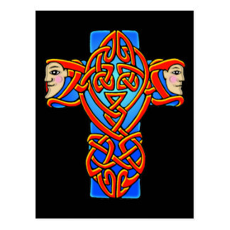 Colorful Antique Celtic Art - Intricate, Beautiful Postcard