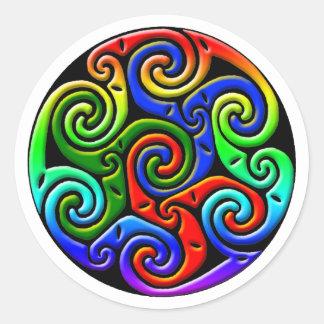Colorful Antique Celtic Art - Intricate, Beautiful Round Sticker
