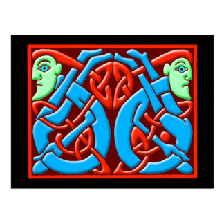 Colorful Antique Celtic Art Tees and Gifts Postcard