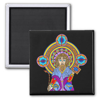 Colorful Antique Celtic Art Tees and Gifts Square Magnet