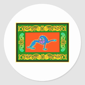 Colorful Antique Style Celtic Art Gifts and Tees Stickers