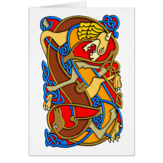 Colorful Antique Style Celtic Art - Great Gift! Greeting Card