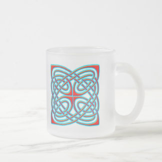 Colorful Antique Style Celtic Art - Great Gift! Frosted Glass Mug