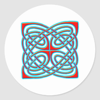 Colorful Antique Style Celtic Art - Great Gift! Round Sticker