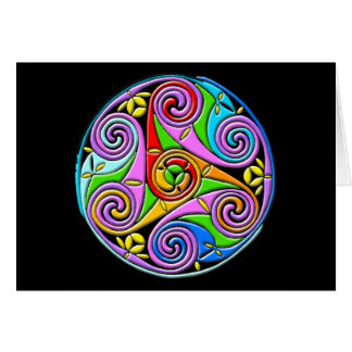 Colorful Antique Style Celtic Art Greeting Card