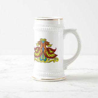 Colorful Antique Style Celtic Art Mugs