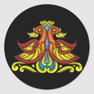 Colorful Antique Style Celtic Art Sticker