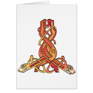 Colorful Antique Style Celtic Art Tees and Gifts Greeting Card