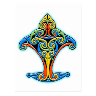 Colorful Antique Style Celtic Art Tees and Gifts Postcard