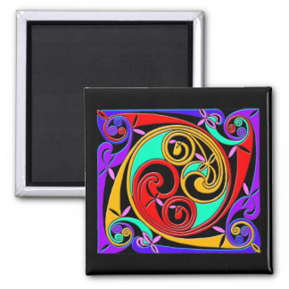 Colorful Antique Style Celtic Art Tees and GIfts Square Magnet