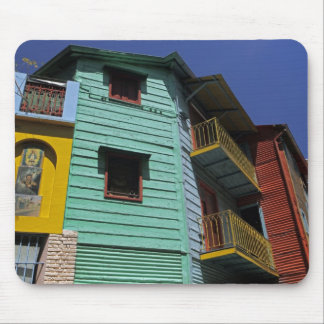 Colorful architecture of La Boca neighborhood Mouse Mat
