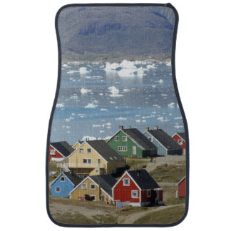 Colorful architecture of the town, Narsaq, Car Mat