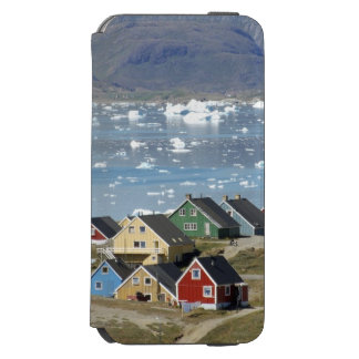 Colorful architecture of the town, Narsaq, Incipio Watson™ iPhone 6 Wallet Case