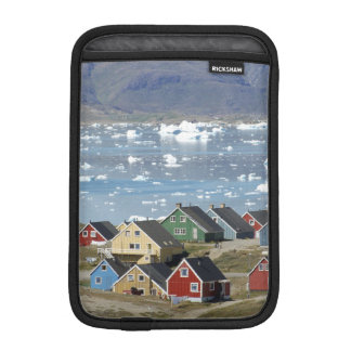 Colorful architecture of the town, Narsaq, iPad Mini Sleeve
