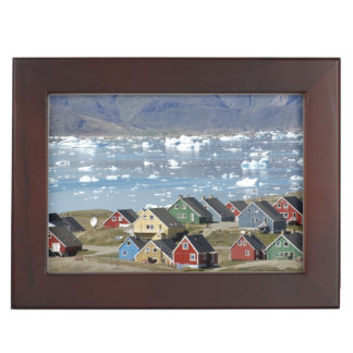 Colorful architecture of the town, Narsaq, Keepsake Box