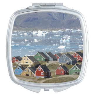 Colorful architecture of the town, Narsaq, Mirrors For Makeup