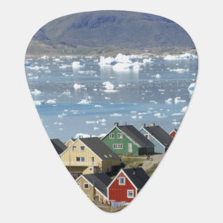 Colorful architecture of the town, Narsaq, Plectrum