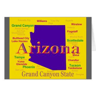 Colorful Arizona State Pride Map Card