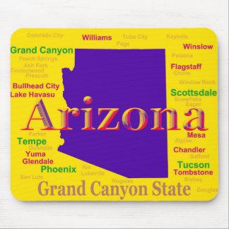 Colorful Arizona State Pride Map Mousepad