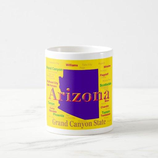 Colorful Arizona State Pride Map Mugs