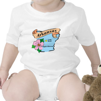 Colorful Arkansas Map Gifts and Tees