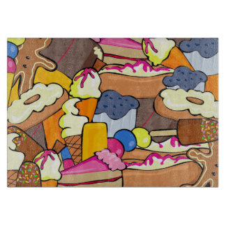 Colorful array of Sweets Cutting Board