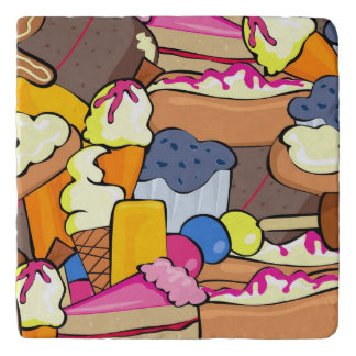 Colorful array of Sweets Trivet