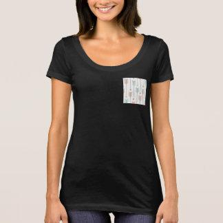 Colorful Arrows Pocket Women's  Scoop Neck T-Shirt