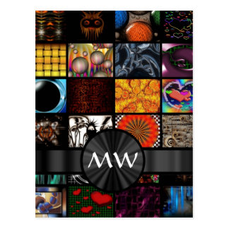 Colorful art collage abstract postcard