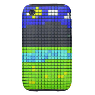 colorful art fabric iPhone 3 tough cover