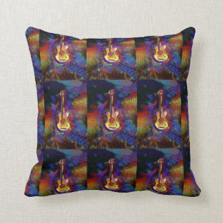 colorful art guitar cushion