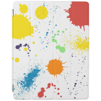 Colorful artist paint blotches Ipad Cover