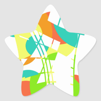 Colorful artistic apstraction star sticker