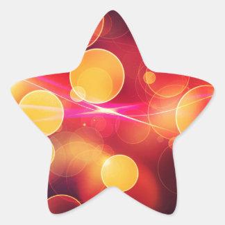 Colorful artistic bokeh design star sticker