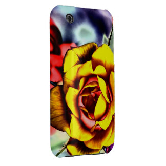 Colorful Artistic Yellow Rose Case-Mate iPhone 3 Case