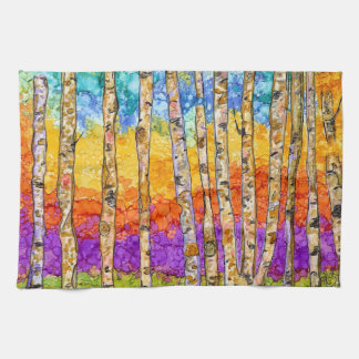 Colorful Aspen Trees Kitchen Towel