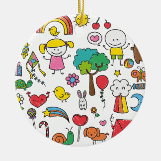 Colorful Assorted Children's Drawing | Ornament