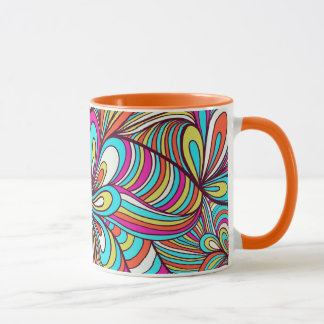 Colorful Assorted Psychedelic Swirls Mug
