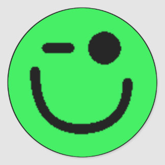 Colorful Assorted Smileys(See Description) Round Sticker