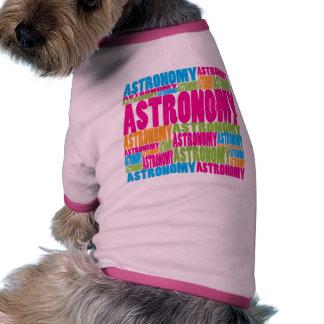 Colorful Astronomy Doggie Tee Shirt