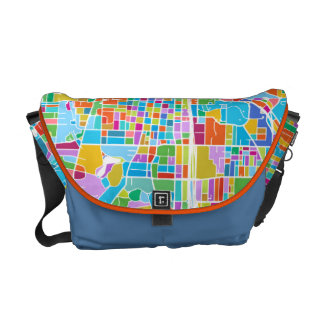 Colorful Atlanta Map Courier Bags