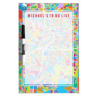 Colorful Atlanta Map Dry Erase Board