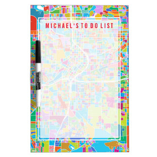 Colorful Atlanta Map Dry-Erase Whiteboards