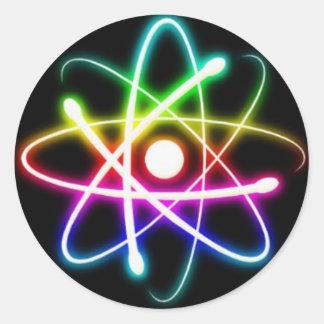 Colorful Atoms Round Sticker