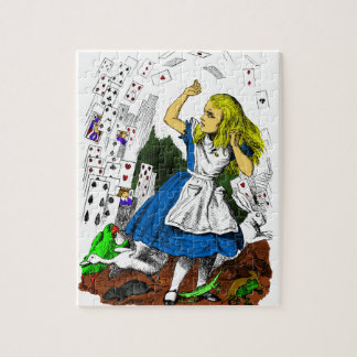 Colorful Attack of the Cards Alice in Wonderland Jigsaw Puzzle