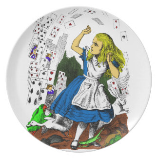 Colorful Attack of the Cards Alice in Wonderland Plate