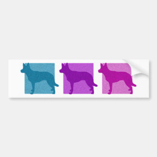 Colorful Australian Kelpie Silhouettes Bumper Sticker