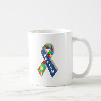 Colorful Autism Awareness Ribbon Basic White Mug