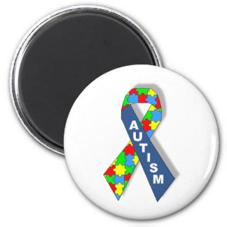 Colorful Autism Awareness Ribbon Magnet